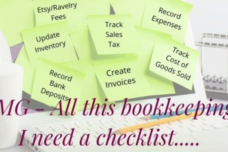 FREE bookkeeping & accounting checklist for handmade or creative business owners