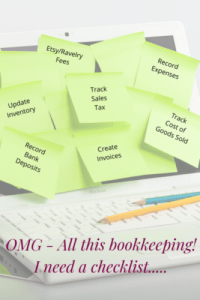FREE Bookkeeping & Accounting task checklist for handmade or creative business owners