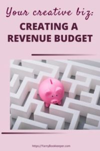 Your Creative Biz-How to Create a Revenue Budget. Learn where your money is coming from, if you are hitting your revenue goals, are you charging enough. These are only some of the things a Revenue Budget can tell you about your biz.