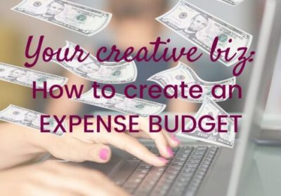 My Creative Biz-Creating an Expense Budget