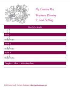 Business Planning - Goal Setting Worksheets created in Microsoft Word