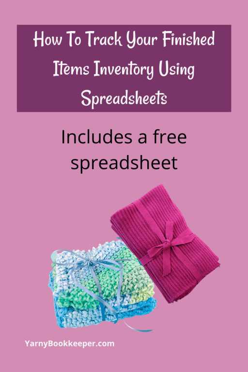 An offer for a free finished items inventory spreadsheet