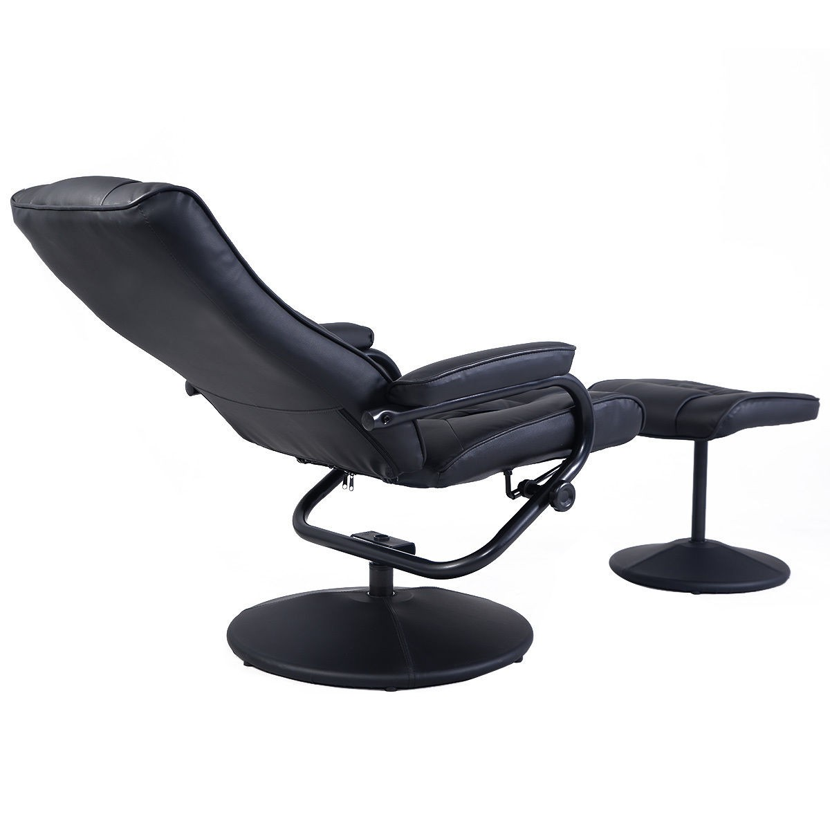 reclining chair with ottoman leather big tall office chairs 2 recliner swivel armchair lounge seat