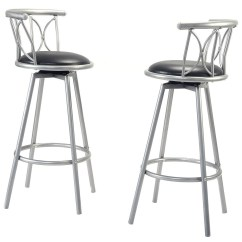 Steel Chair Size Wood Outdoor Chairs Plans Home Black Barstools Modern Swivel Rotatable