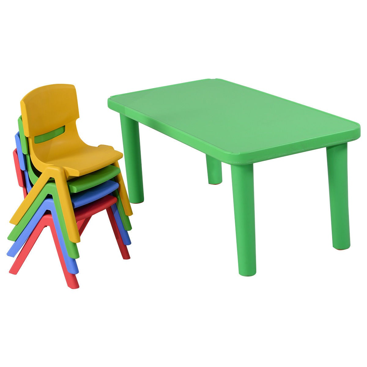 Toddler Table And Chairs Plastic Fun Kids Plastic Table And 4 Chairs Set Colorful Play