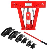 US Heavy Duty 12 Ton Hydraulic Pipe Bender Tubing Exhaust