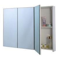 """3 Mirror Door 36"""" 20"""" Wide Wall Mount Mirrored Bathroom ..."""