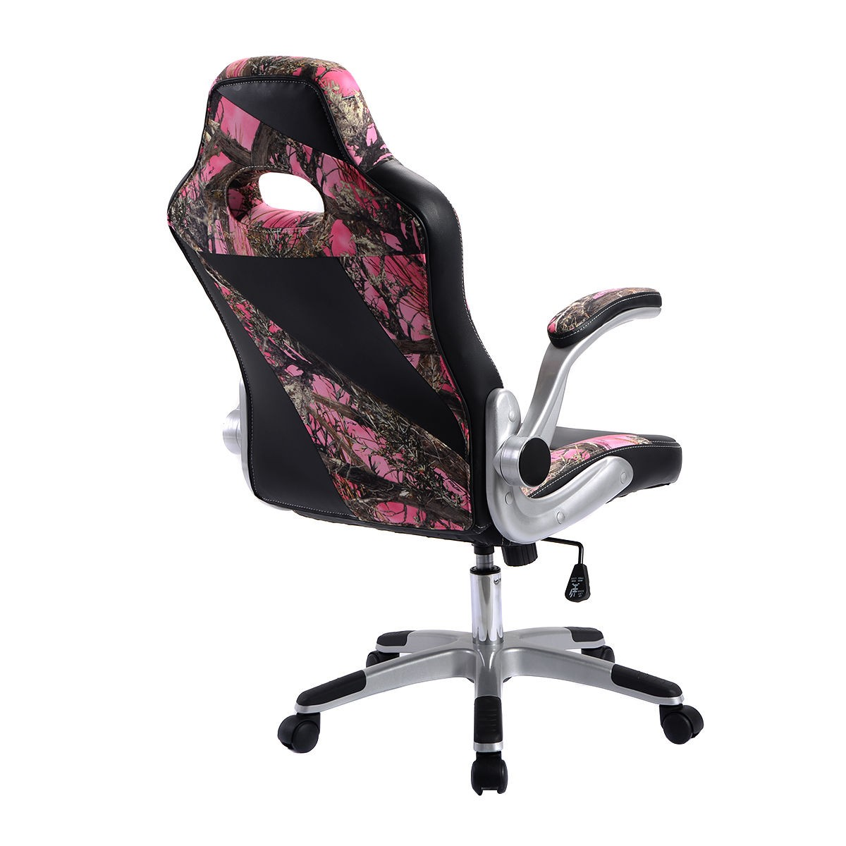 swivel hunting chair with armrests black counter height chairs new pu leather high back executive office desk task