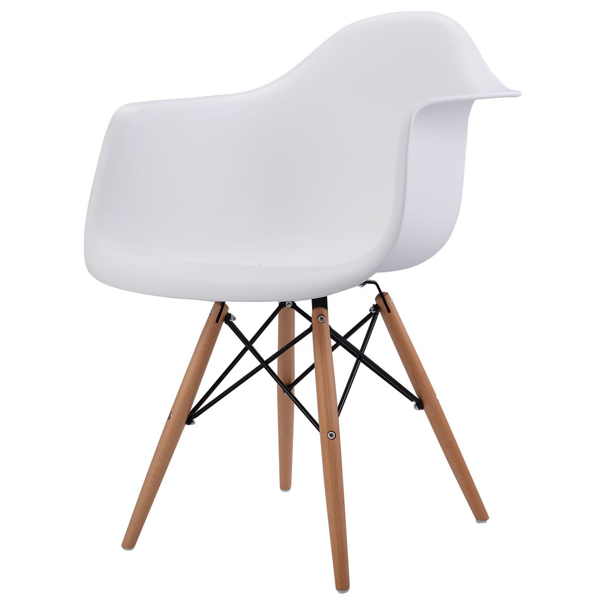 mid century modern plastic chairs parsons for sale new 1pc molded stylish dining arm chair wood legs
