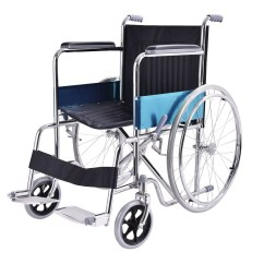 Wheelchair Ebay Blue And White Upholstered Chairs 24 Quot Lightweight Foldable Stainless Steel Transport Wheel