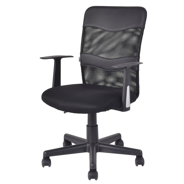 mid back office chair black Modern Ergonomic Mesh Executive Mid-Back Computer Desk Task Office Chair Black