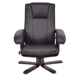 Leather Swivel Recliner Chair And Ottoman Designer Covers To Go Bromley Pu Executive Leisure