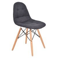 2PC Set Mid Century Modern Style Upholstered DSW Dining ...