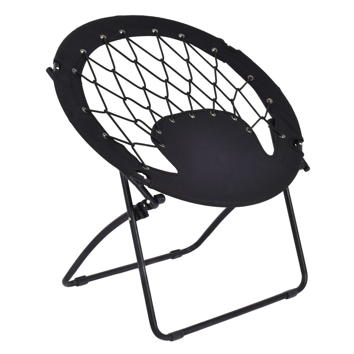 circle bungee cord chair folding hardware outdoor round steel frame camping