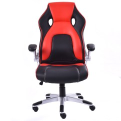 Bucket Racing Chair Red Oversized Pu Leather Seat Office Desk Task Computer