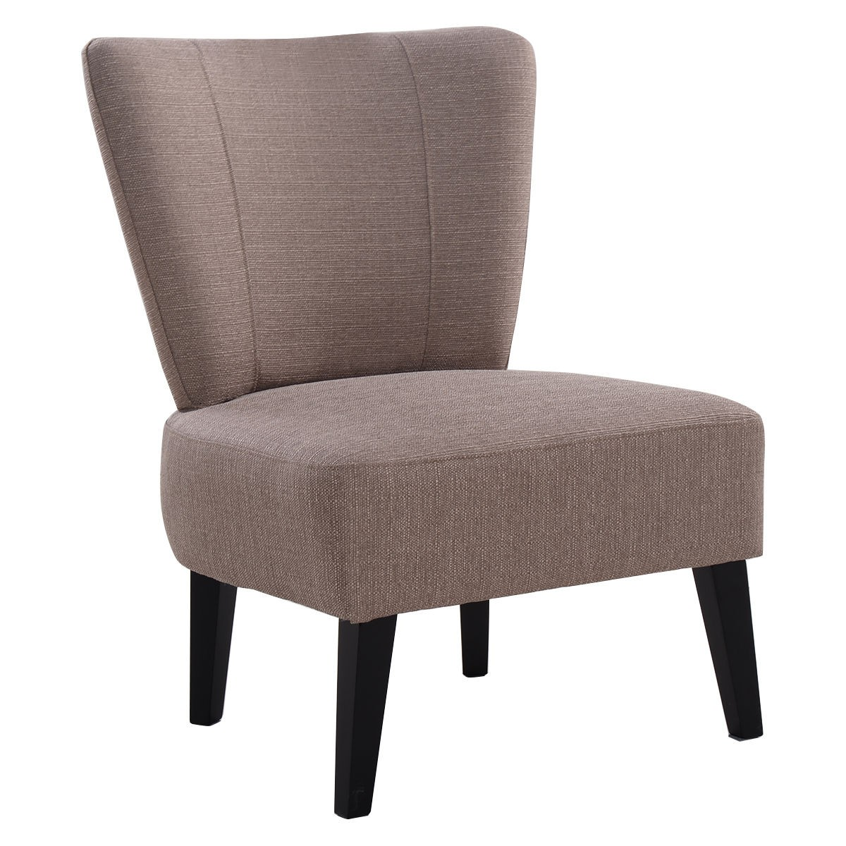 Upholstered Side Chairs Armless Accent Chair Upholstered Seat Dining Chair Living