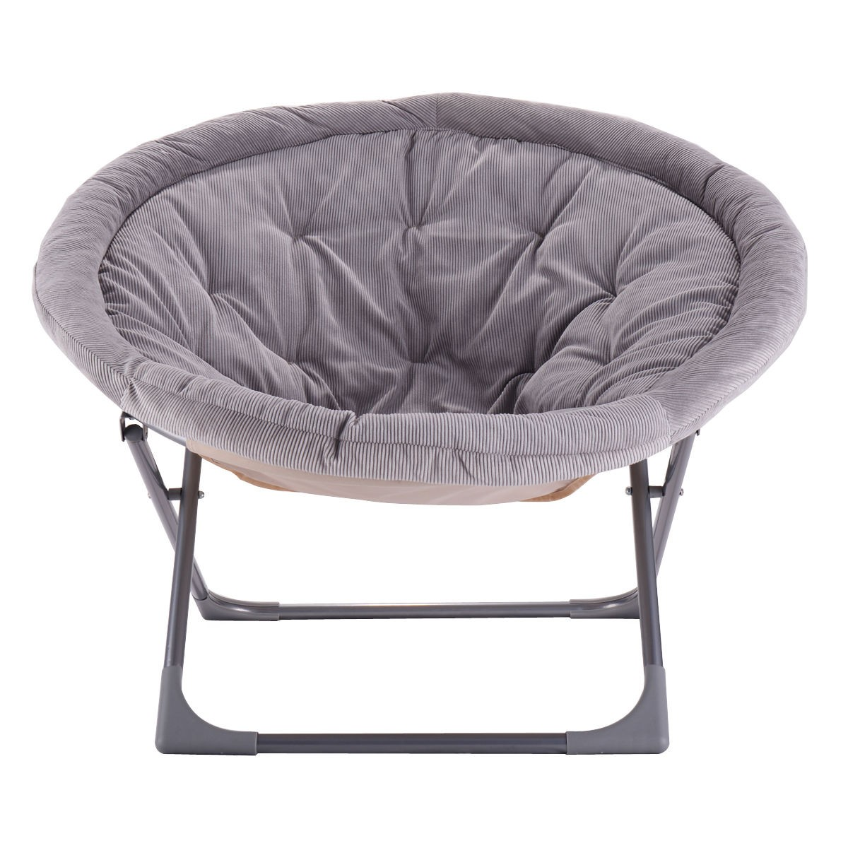 Grey Oversized Chair Oversized Large Folding Saucer Moon Chair Corduroy Round