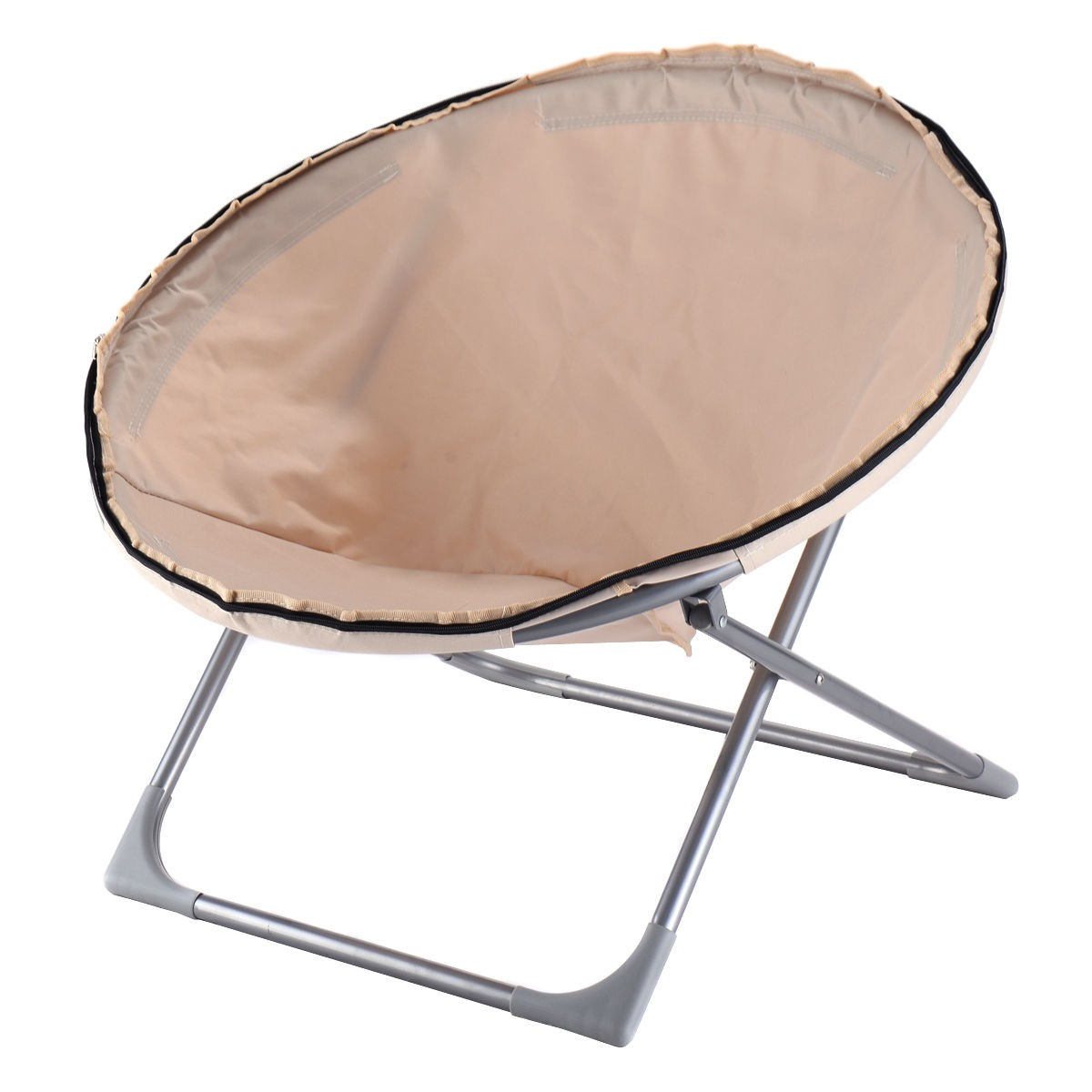Oversized Large Folding Saucer Moon Chair Corduroy Round