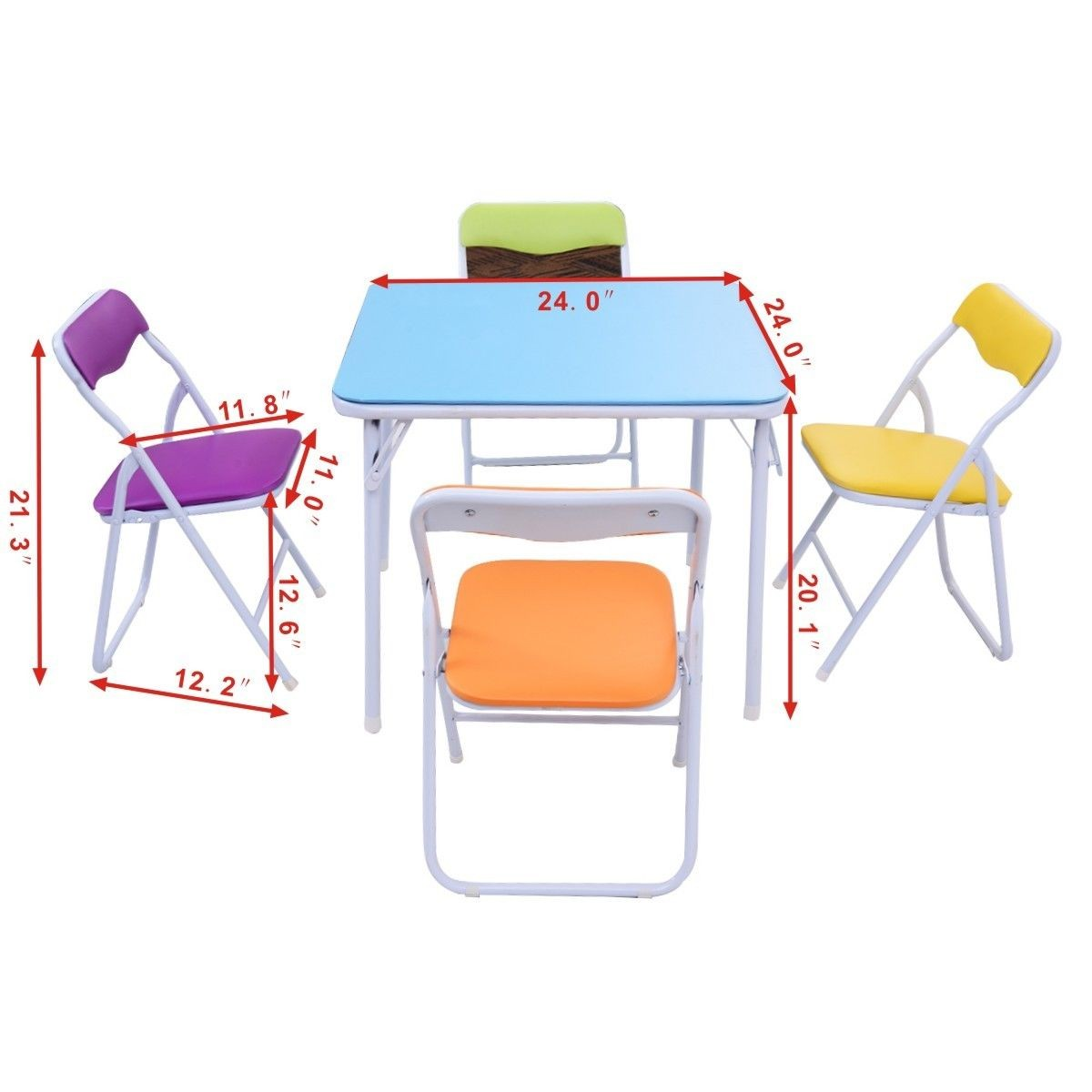 Folding Table And Chairs For Kids Home Flash Furniture Kids Colorful 5 Piece Folding Table