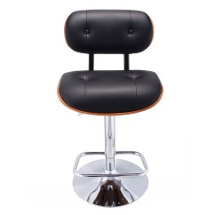 Leather Pub Chair Steelcase Pollock Bar Stool Pu Swivel Bentwood Tufted