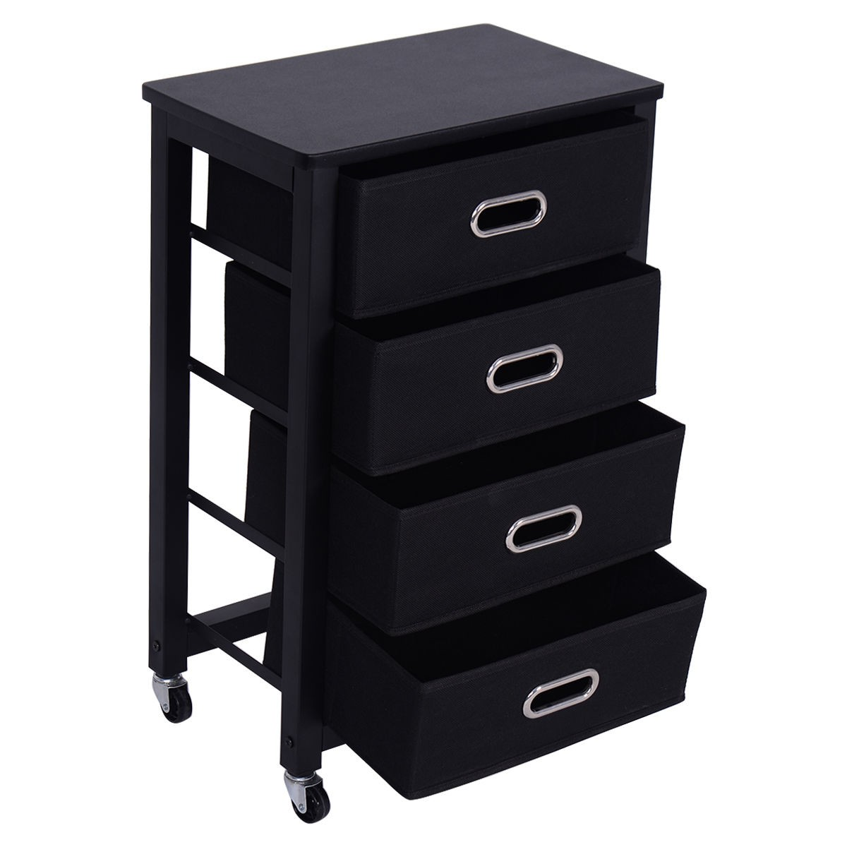 Rolling Heavy Duty File Cabinet 4 Drawer Office Furniture