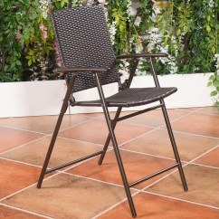 Folding Wicker Chairs Jack Daniels Whiskey Barrel Table And Us Indoor Outdoor Rattan 4pcs