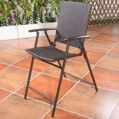 Folding Wicker Chairs Office Max Hard Floor Chair Mat Us Indoor Outdoor Rattan 4pcs