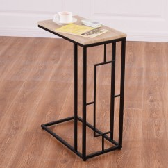 End Sofa Table As Seen On Tv Fix Modern Coffee Side Lamp Square Steel