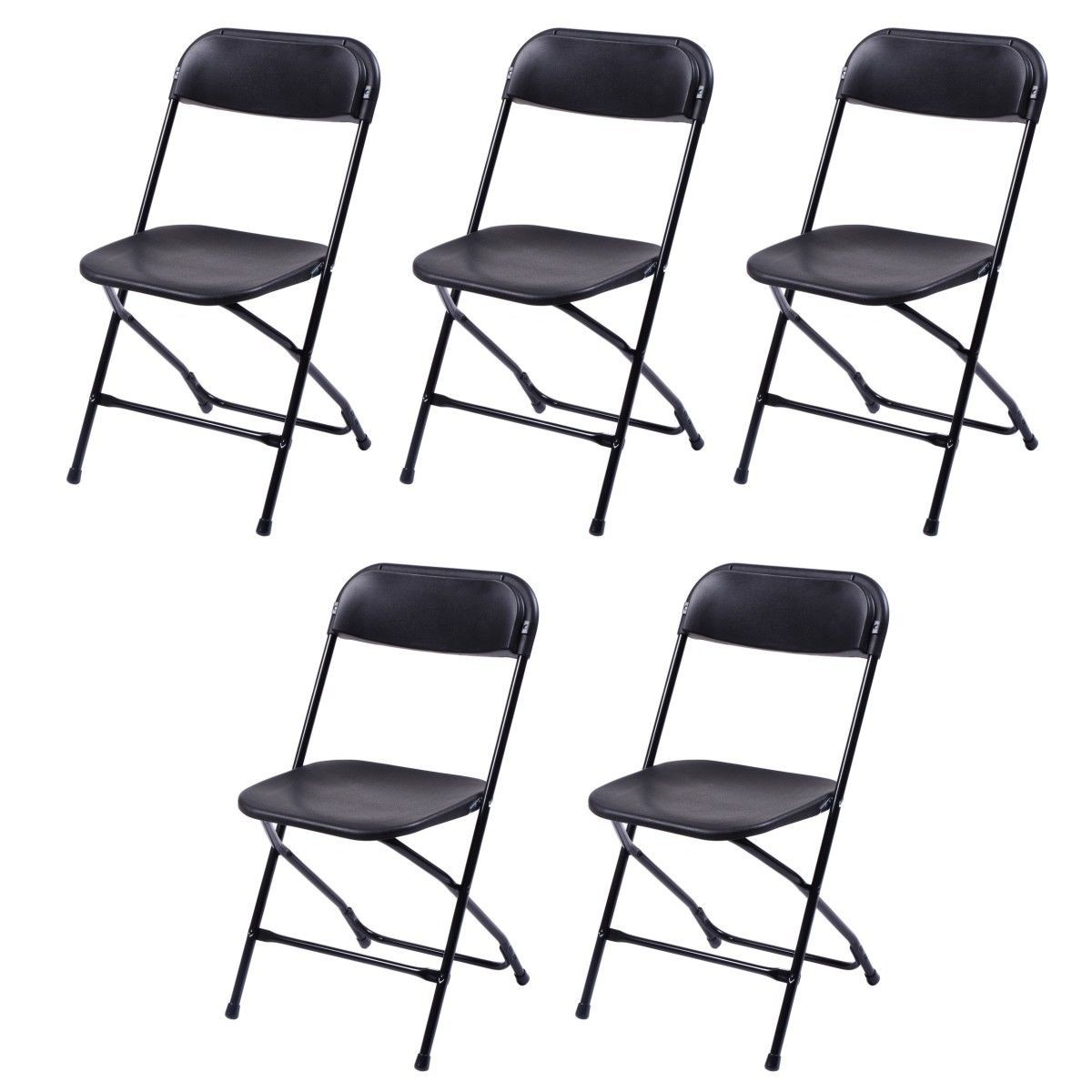 commercial folding chairs metal and wood canada 5pcs set plastic heavy duty steel frame