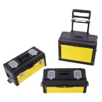New Portable Rolling Metal Stacking Trolley Box Chest ...