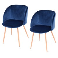 Modern 1Pair Mid-Century Velvet Accent Arm Chair Dining ...