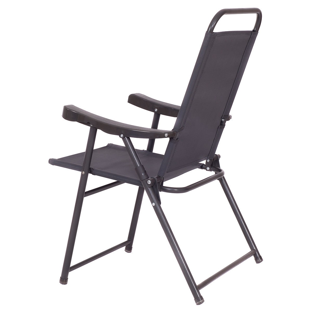 Patio Folding Chairs 4pcs Folding Sling Chairs With Armrest Textiliene Outdoor