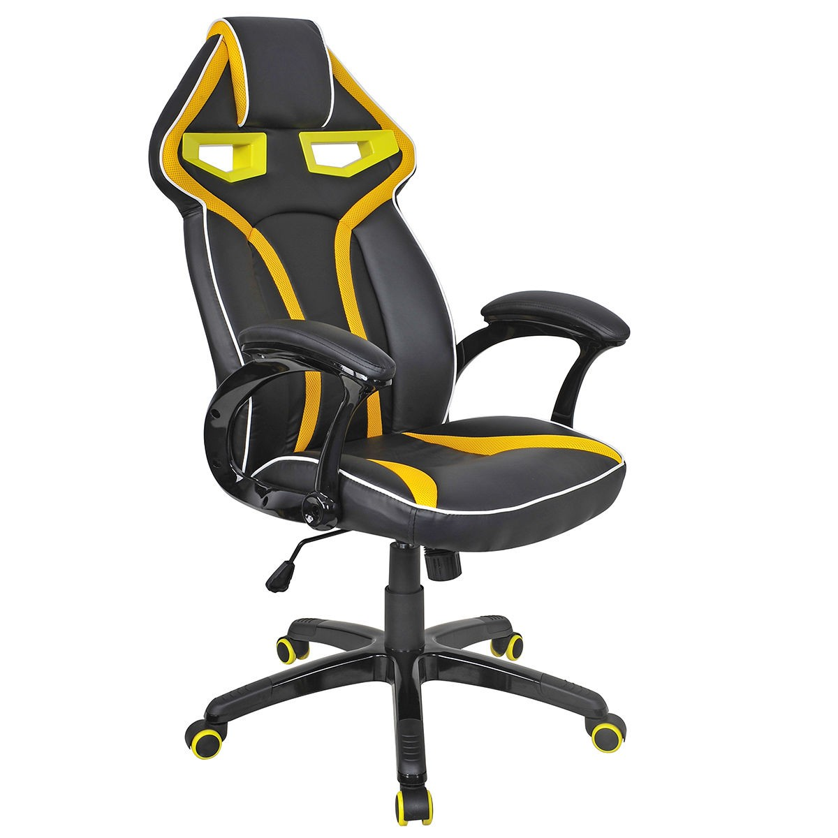 gaming chairs pc aluminum folding with webbing high back racing bucket seat chair computer desk