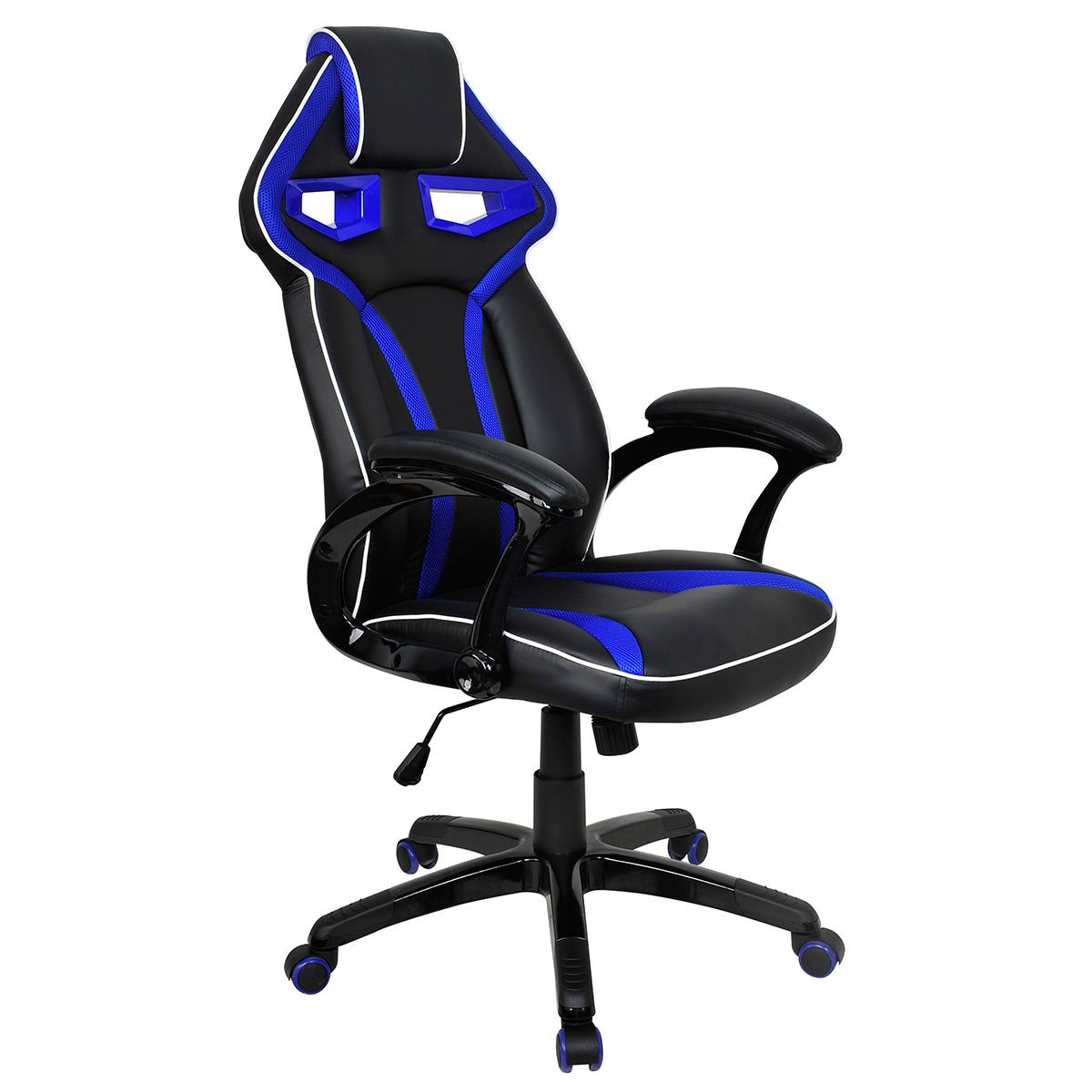 gaming chairs pc toddler upholstered high back racing bucket seat chair computer desk