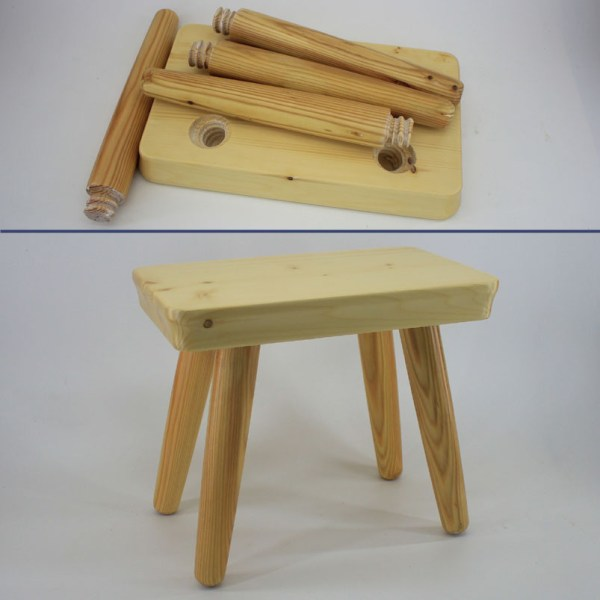 Kids Wooden Step Stool Chair
