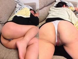 【NF】寝ぼけてる奥さんのオマンコ撮ったからオカズにしてシコって良いよ。