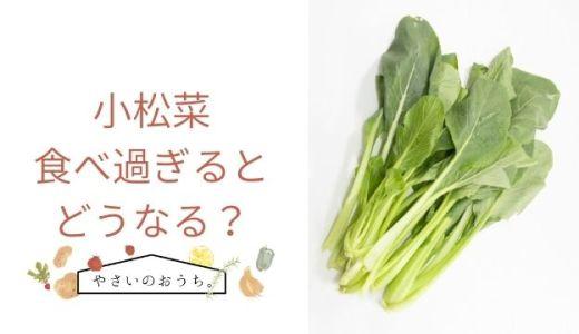 小松菜を食べ過ぎると妊娠中はどうなる?適量や対処法も