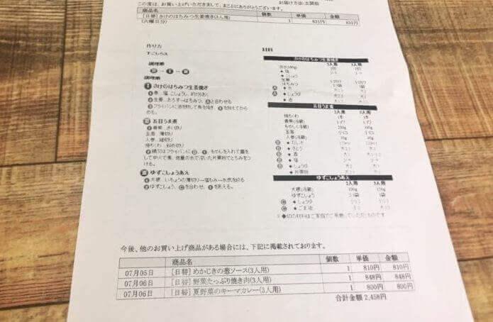ヨシケイの夕食ネット。レイピ