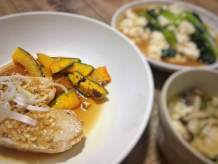 夕食ネット「めかじきの葱ソース」2日目の完成