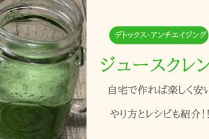 【ジュースクレンズは痩せない?】自宅で作る安いコールドプレスジュースのレシピ!