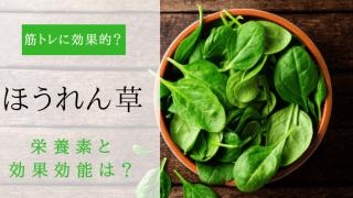 ほうれん草の栄養や効果効能を調査!筋トレ(筋肉)に効果的?