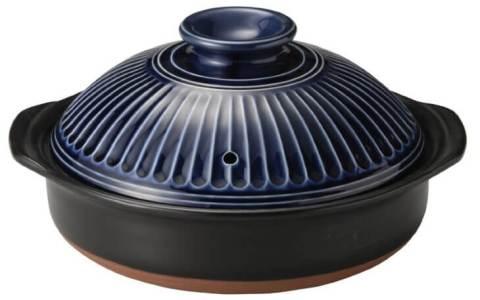 古焼 銀峯陶器 菊花 土鍋