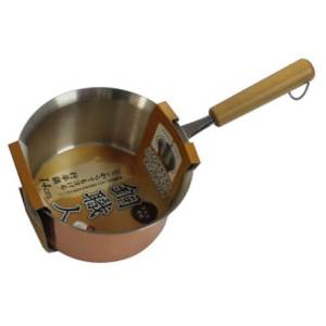 パール金属 雪平鍋 14cm ガス火専用 どこからでも注げる 銅鍋