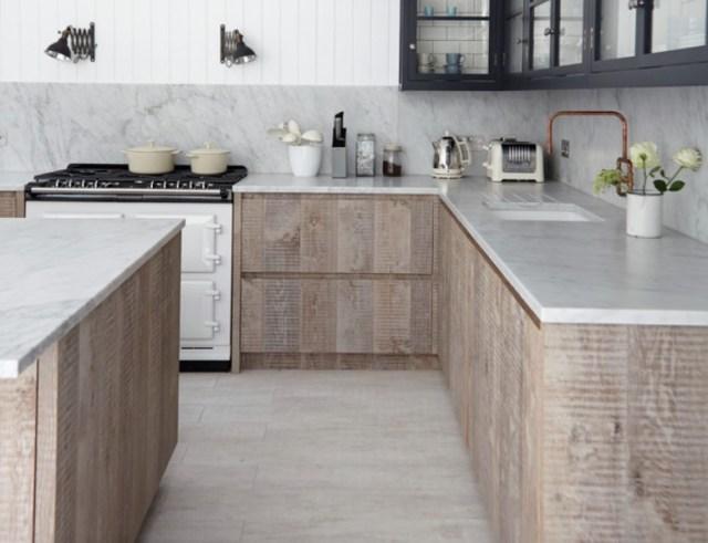 rustik modern mutfak dolapları