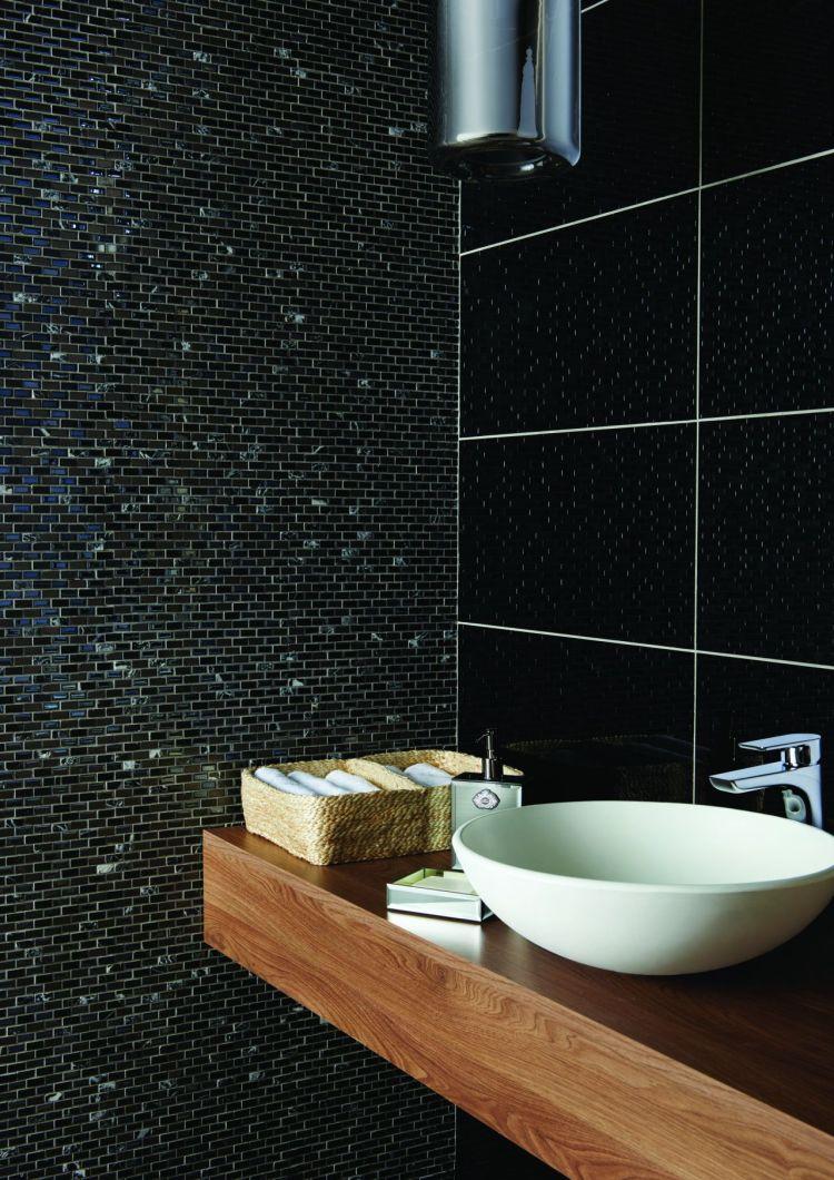 siyah banyo dekorasyonu