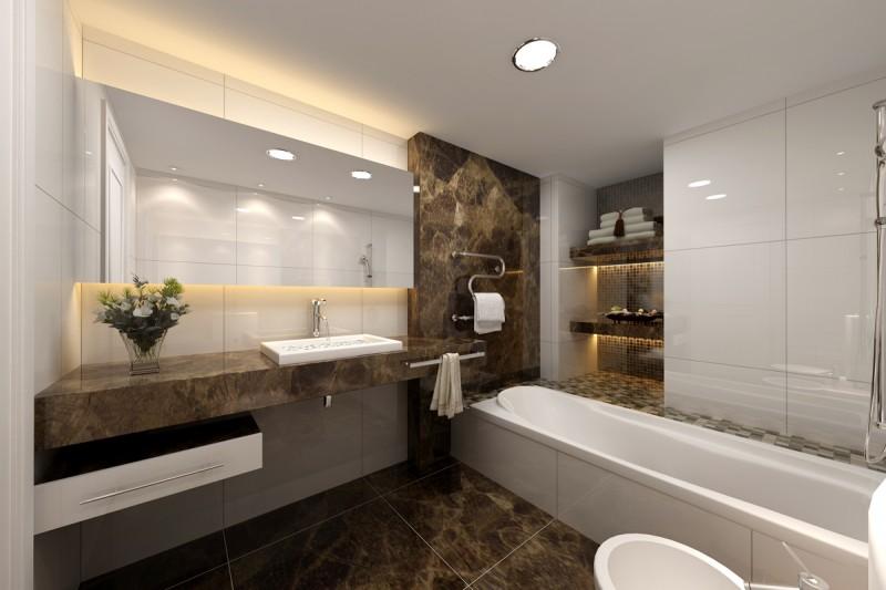 Banyonuz için 30 Granit Tasarım Fikirleri