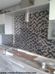 mutfak tezgah arası cam mozaik