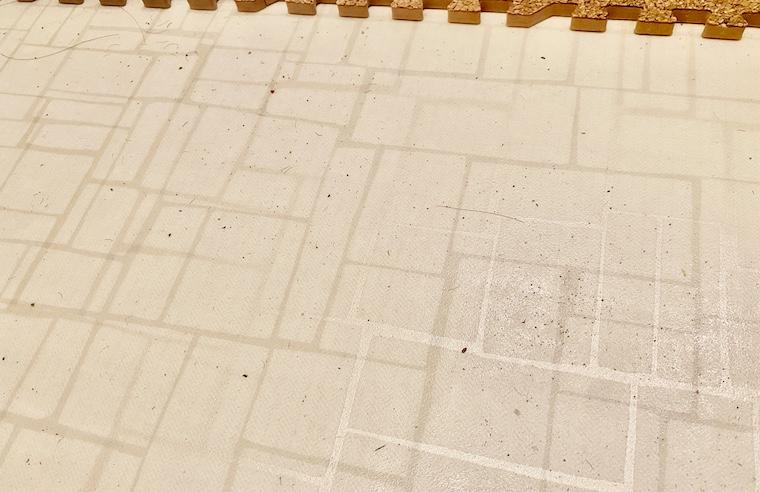 コルクマットを敷きっぱなしにした後の床