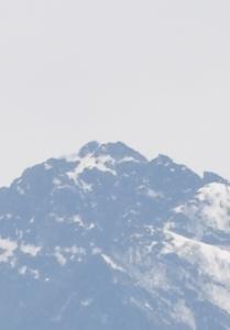 甲斐駒ケ岳大文字雪型