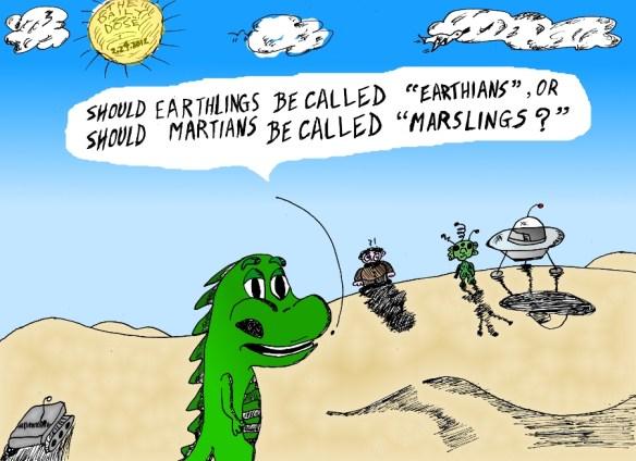 earthians or marslings cartoon